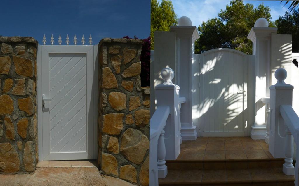 Garden doors in white Aluminium